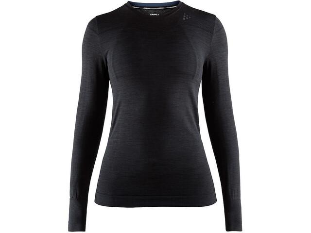 Craft Fuseknit Comfort Rundhals Langarmshirt Damen black